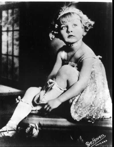 Baby June; actress June Havoc (born Ellen Hovic) as a young child