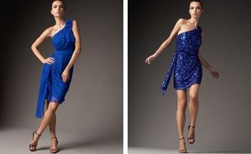 lindos modelos de vestidos azul rey