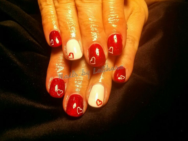 nails for valentine