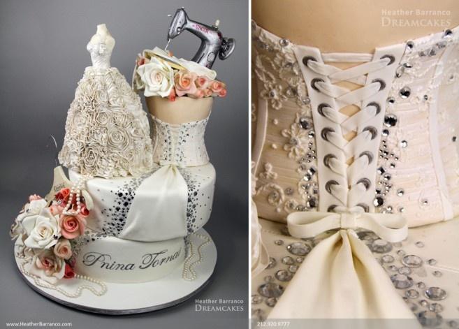 Incredible cake done for wedding dress designer pnina tornai by