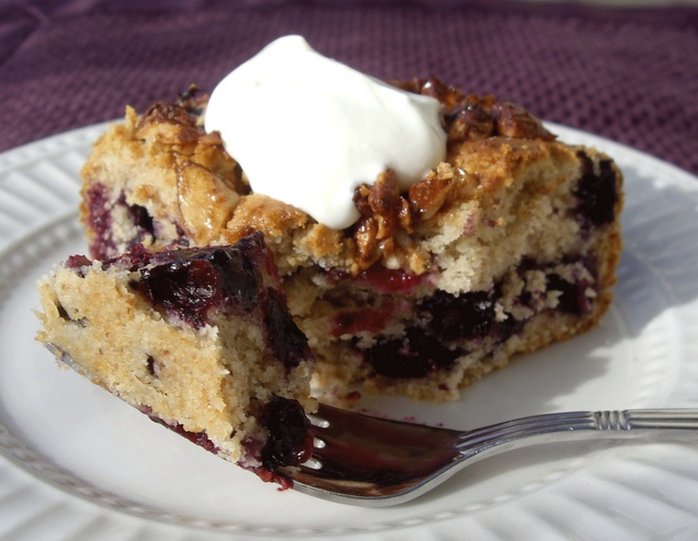 Blueberry Almond Coffee Cake | Indulge | Pinterest