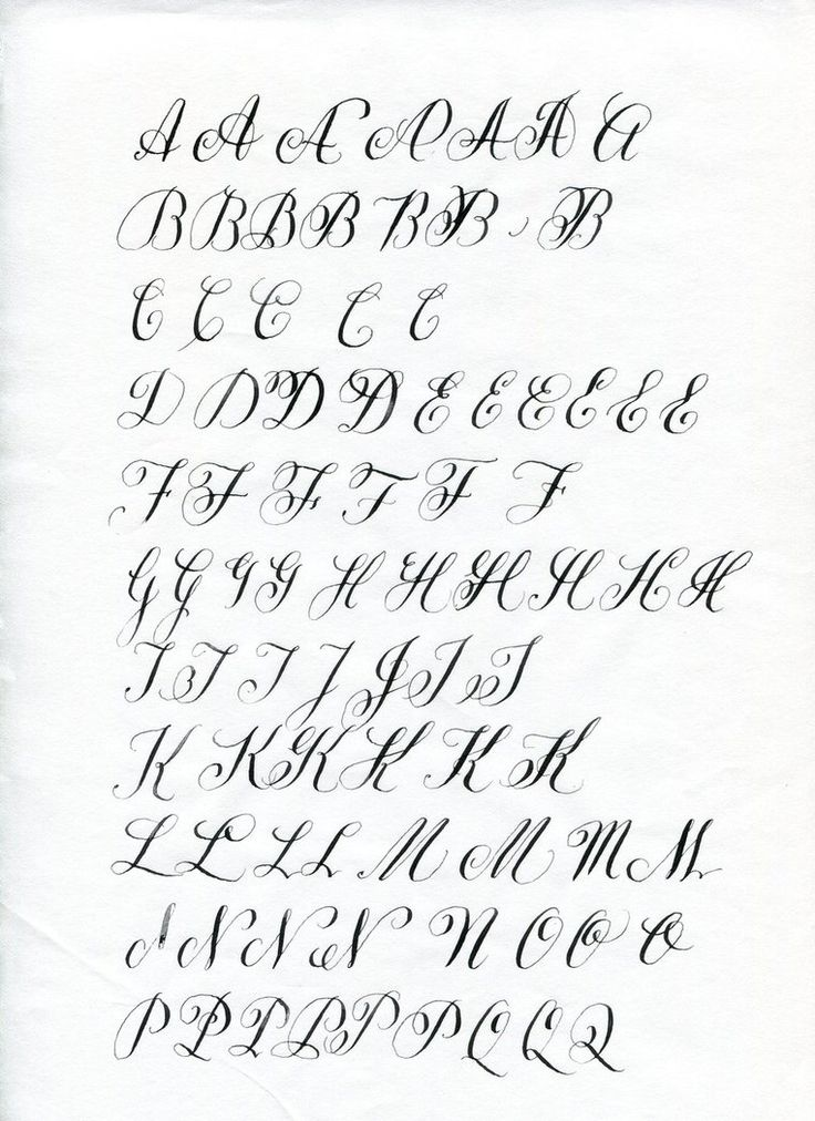 Copperplate Letter Variations Calligraphy Pinterest