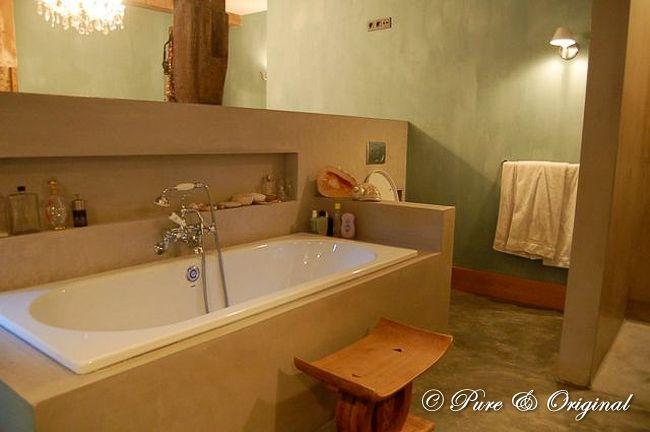 van Pure & Original, kalkverf in de badkamer met dead flat eco sealer~ Kalkverf In Badkamer