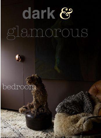 The dark glamorous interior design look using abigail aherns paint