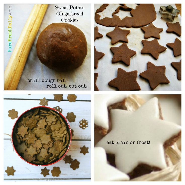 PMED Sweet Potato Gingerbread cookies Collage