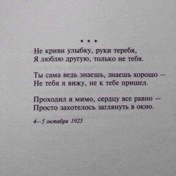 Стих люблю отрывок