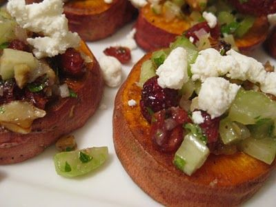 food for scot: Sweet Potatoes with Pecans, Goat Cheese and Celery
