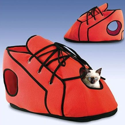Red Shoe Cat Playhouse 5 Luxurious DIY Cat Houses that Have Personality
