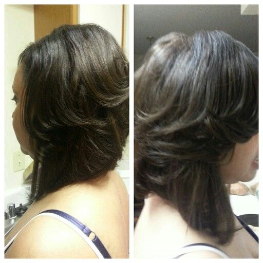 sew in layered bob hairstyles : Layered Bobs