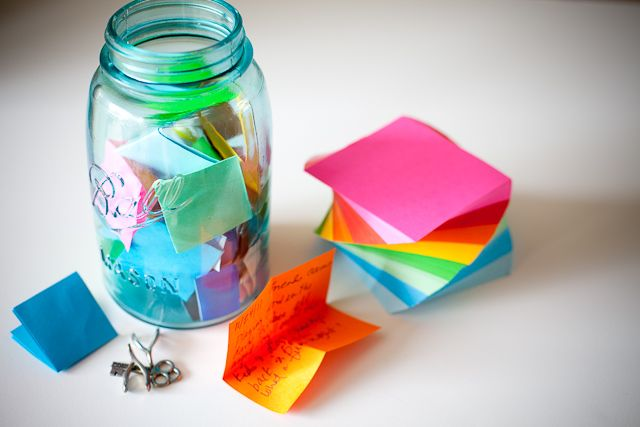 Memory Jar: Easy DIY gift for a teacher from the class.
