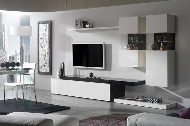 Composici n modular 7 en blanco 300 cm largo disponible for Isabel miro muebles