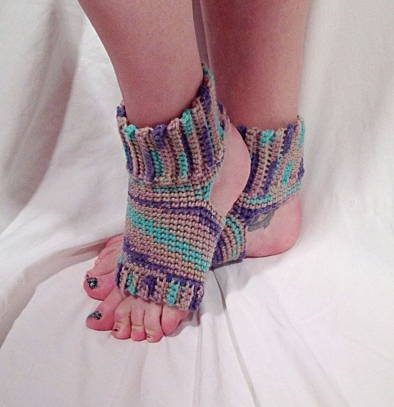 Crochet Yoga Socks : Tan Swirl Crochet Yoga Socks by DapperCatDesigns on Etsy, $20.00