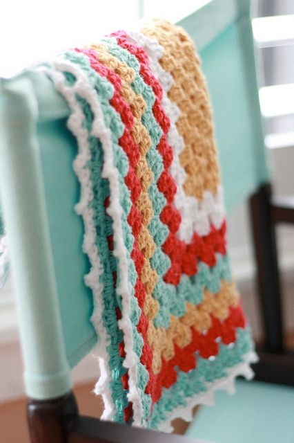 granny square baby blanket Granny square and blankets Pinterest