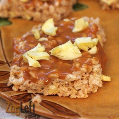 Caramel Apple Rice Krispies Treats - sweet cinnamon spice flavor found ...
