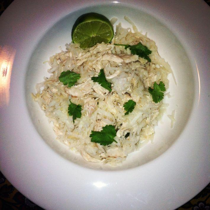 jicama cilantro chicken salad | IP | Pinterest