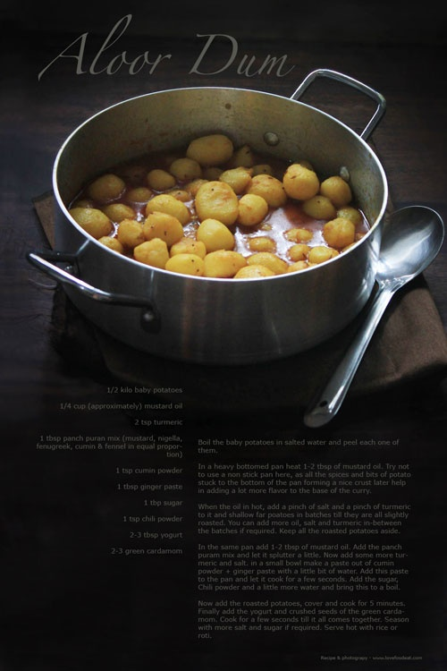 Niramish Dum Aloo - Spice Coated Baby Potatoes Recipes — Dishmaps