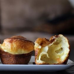 Gingered Peach Popovers With White Chocolate Cream Cheese Drizzle ...