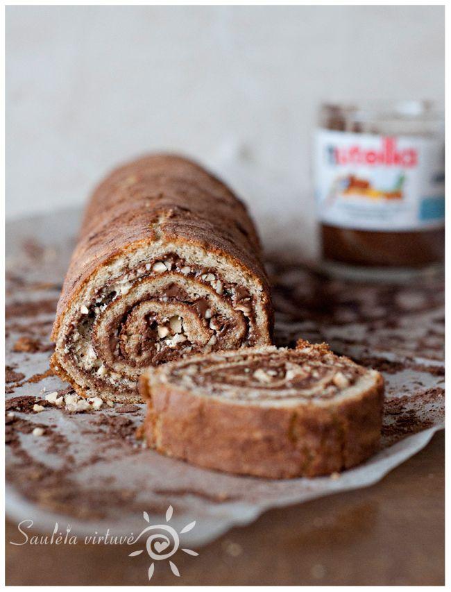Roasted Hazelnut Nutella Roulade | Swirl/Rolls/Roulade/Cakes | Pinter ...