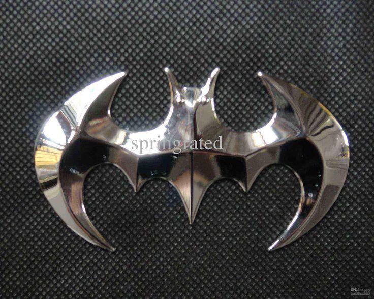Car decal cheap car batman bat metal decal 3d emblem badge sticker