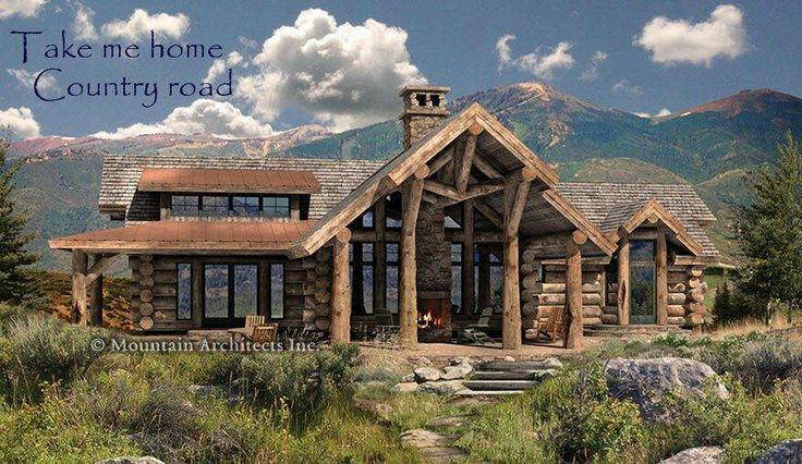 Amazing Log Cabin Mountain Living Pinterest