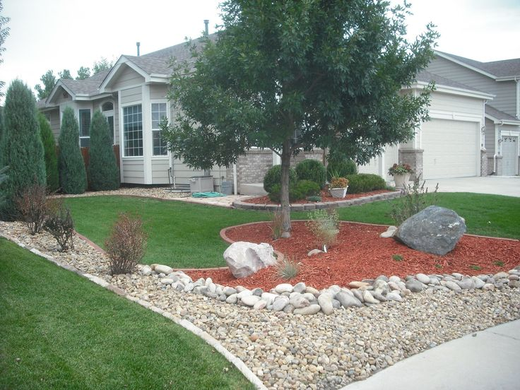 River Rock Landscaping Idea Gardening Landscaping