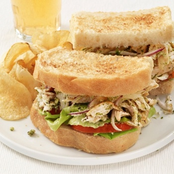 Chicken Salad Sandwiches With Walnut-Dill Pesto Recipe - ZipList