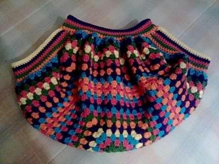 Crochet Granny Square Bag : granny squares