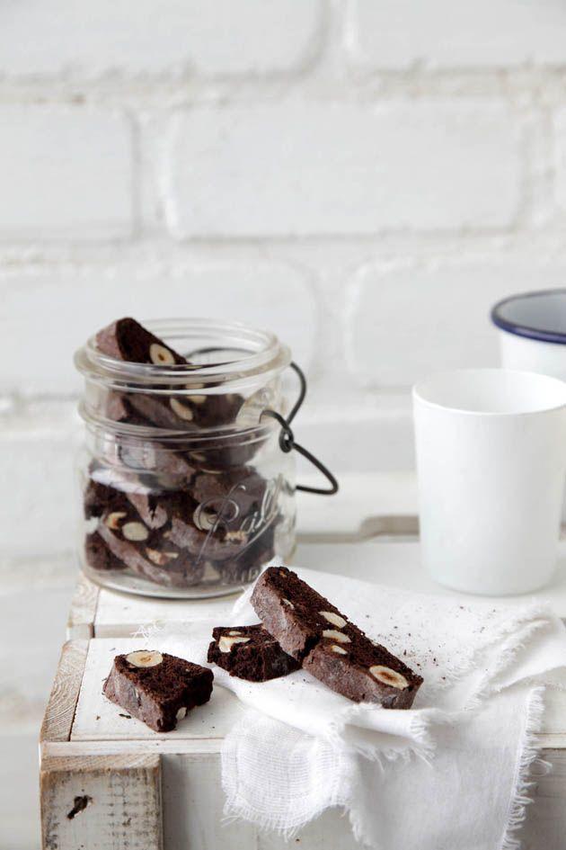 Chocolate-Hazelnut Biscotti Recipe — Dishmaps