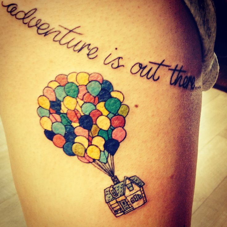 Up disney tattoo adventure is out there tattoos that i for Adventure is out there tattoo