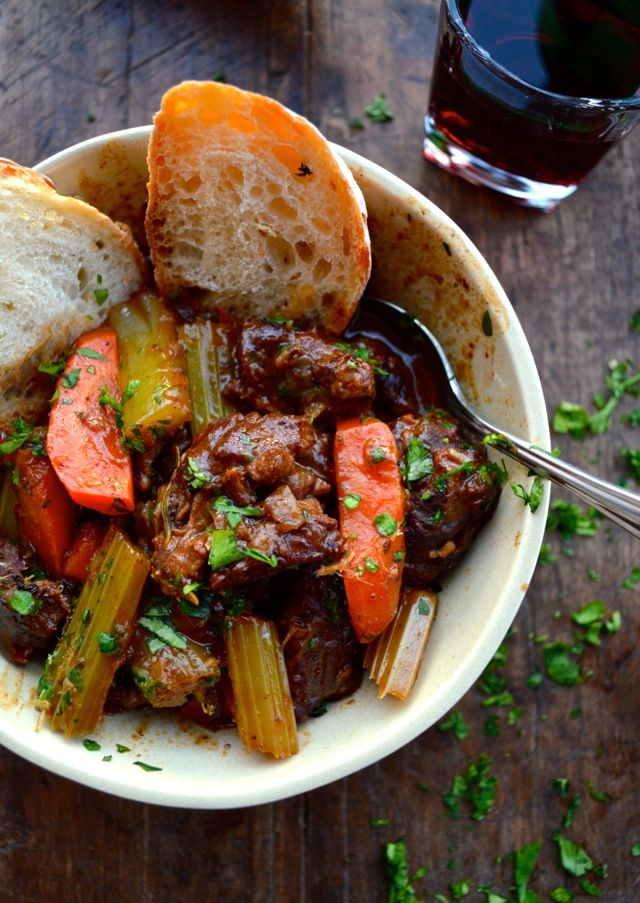 GREMOLATA by thewoksoflife.com, This #BeefStew is full of herbs, red ...