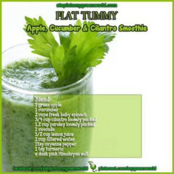 Flat Belly Green Smoothie