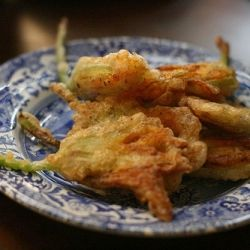 Fried zucchini blossoms. These crispy crunchy snacks are exactly what ...