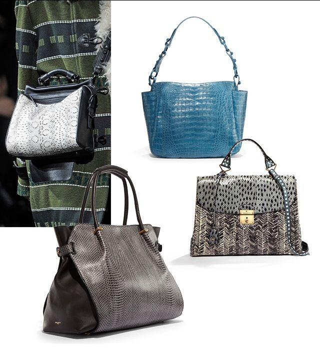 Snakeskin handbags