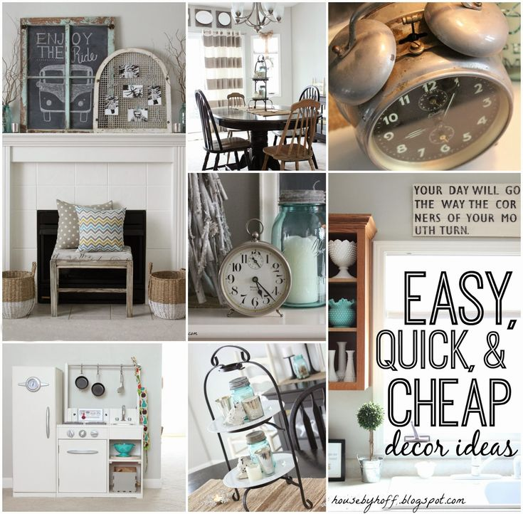 easy quick and cheap decor ideas via