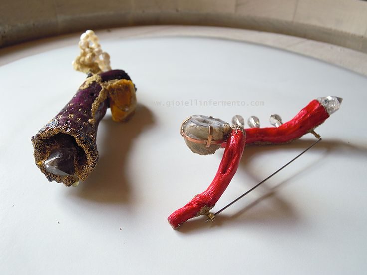 """Viktoria Munzker brooches """"spumante"""" http://gioiellinfermento.files.wordpress.com/2013/05/mc3bcnzker_spille_gioiellinfermento2013.png?w=1000&h=&crop=1"""
