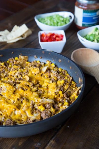 Easy Beef Taco Skillet - less than 30 minutes!