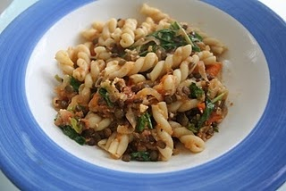 pasta with lentils and arugula | Cooking: All-Purpose | Pinterest