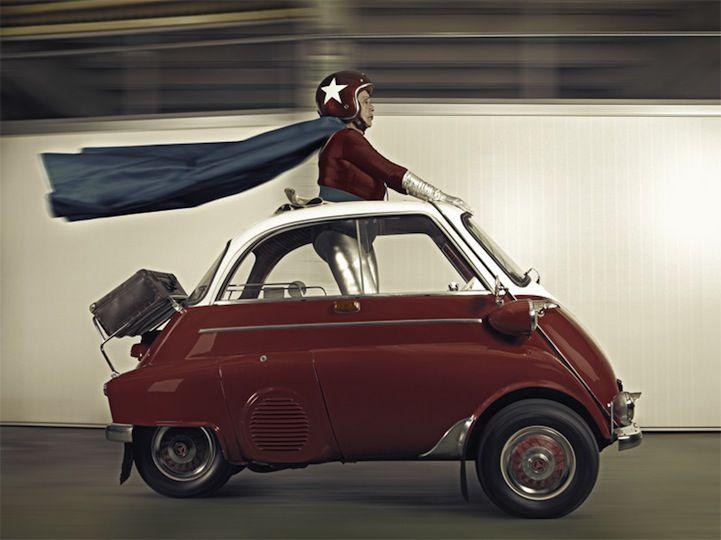 Way to cheer up grandma: Photograph her Super Hero-ness. (Series by Sacha Goldberger)