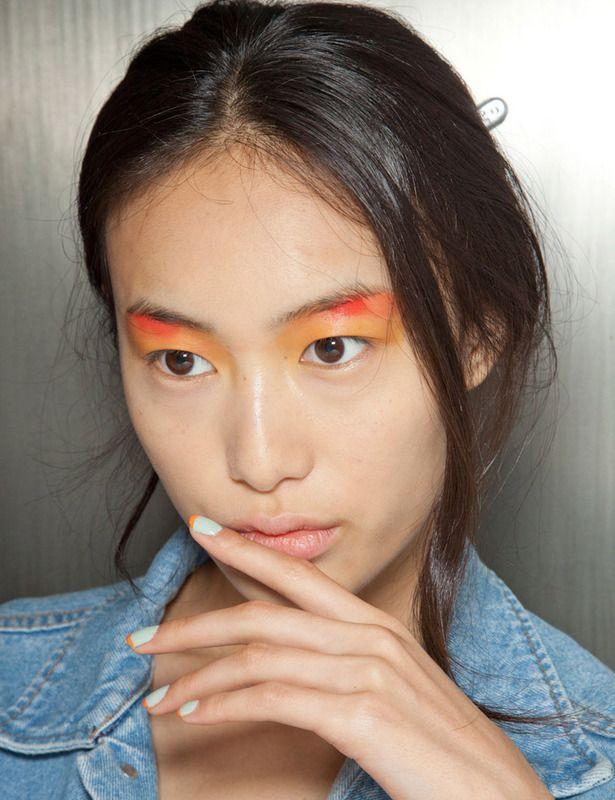 Peter Som mint & orange nails