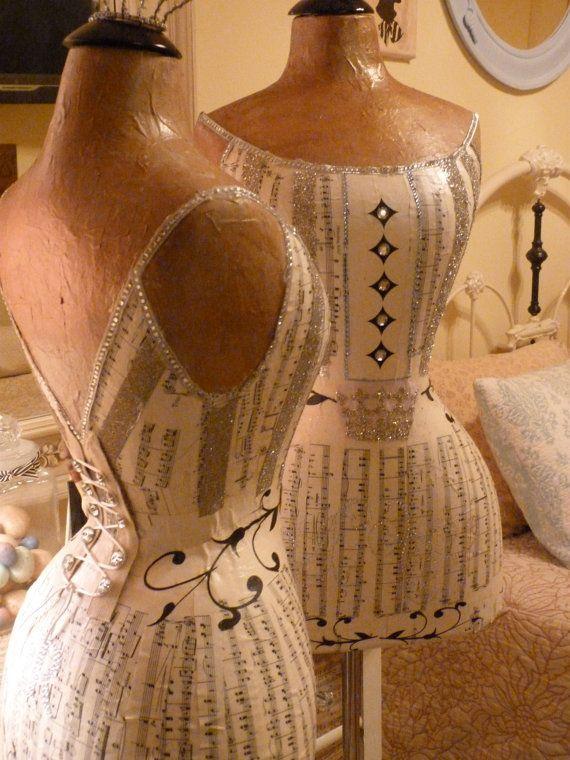 Vintage Inspired Wasp Waist Mannequin