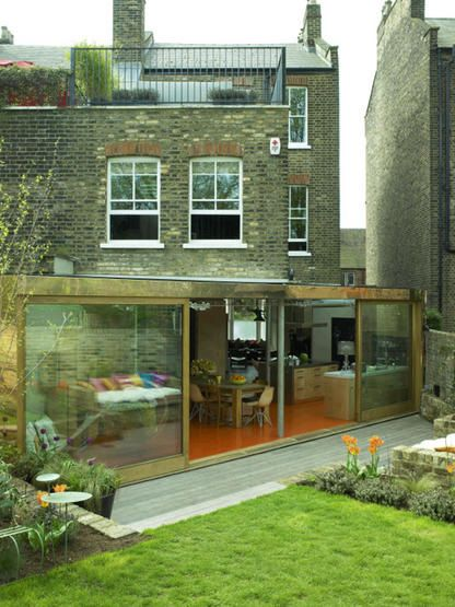 Extension roof terrace home pinterest for Terrace kitchen extension