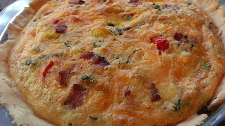 Kale, Bacon, Cheddar and Tomato Quiche | Recipe