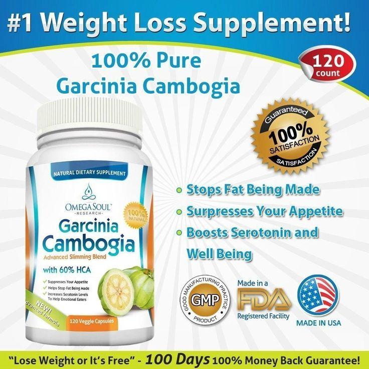 Garcinia Cambogia 120 Capsules 1600 mg