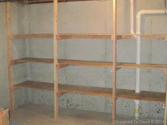 diy basement shelving for the home pinterest