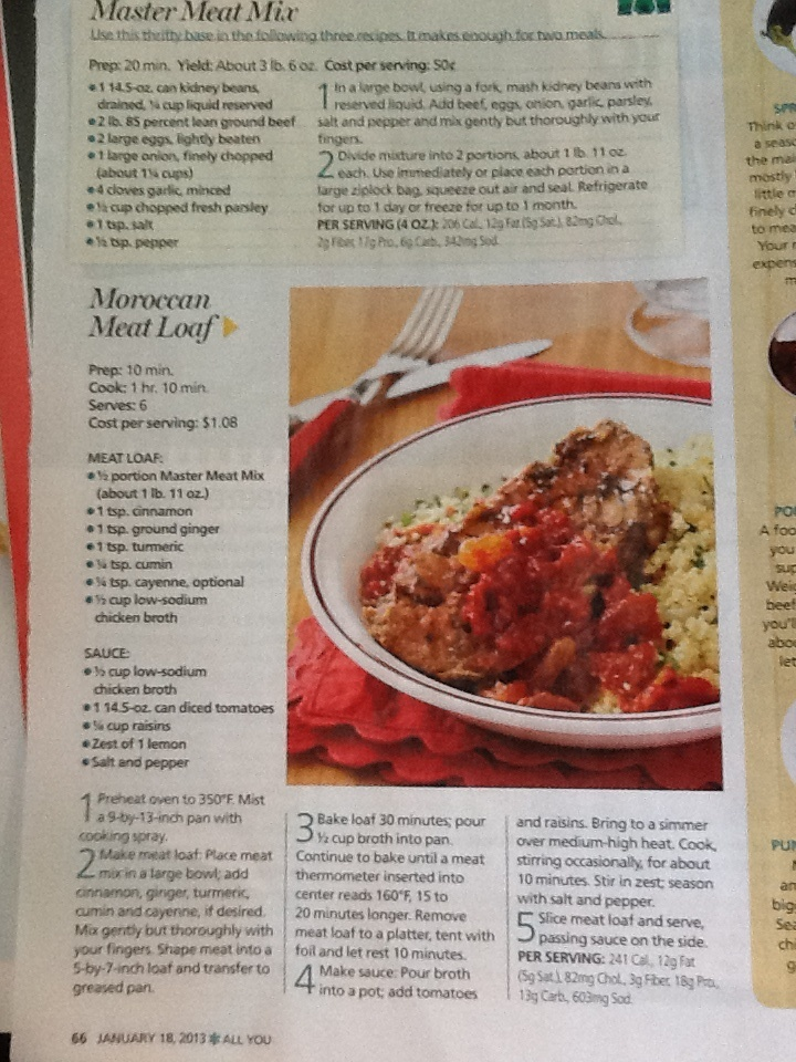 Moroccan meat loaf | Recipes | Pinterest