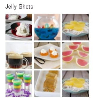 Jelly Shots pinboard from Tablespoon