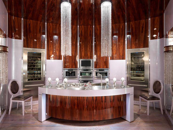 Luxury art deco kitchen interior cuisines plats for Art deco kitchen designs