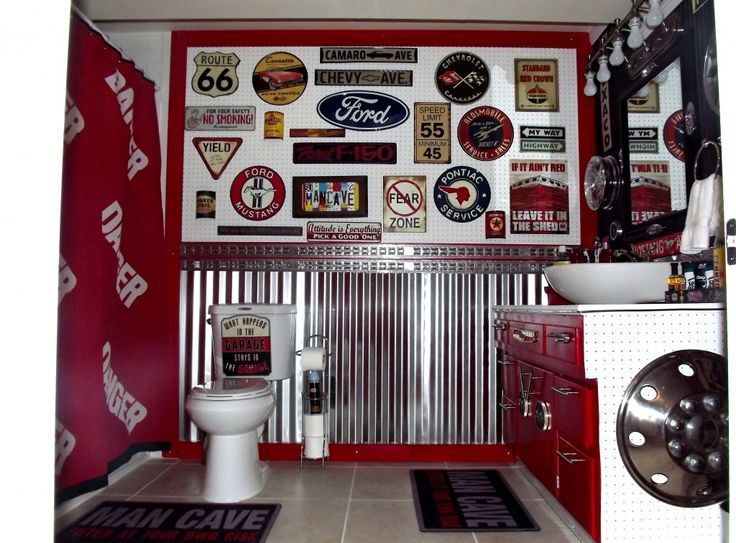 cool car themed bathroom man cave office ideas pinterest