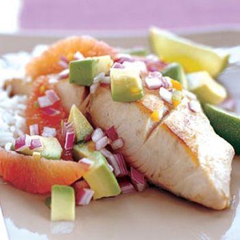 Mahi-Mahi with Blood Orange, Avocado, & Red Onion Salsa Recipe ...