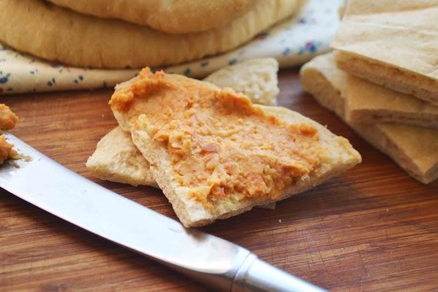 ... whole wheat pita bread. Nothing better than a warm fresh pita